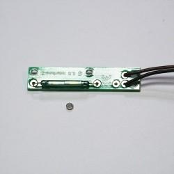 Capteur interrupteur magnétique + aimant rond